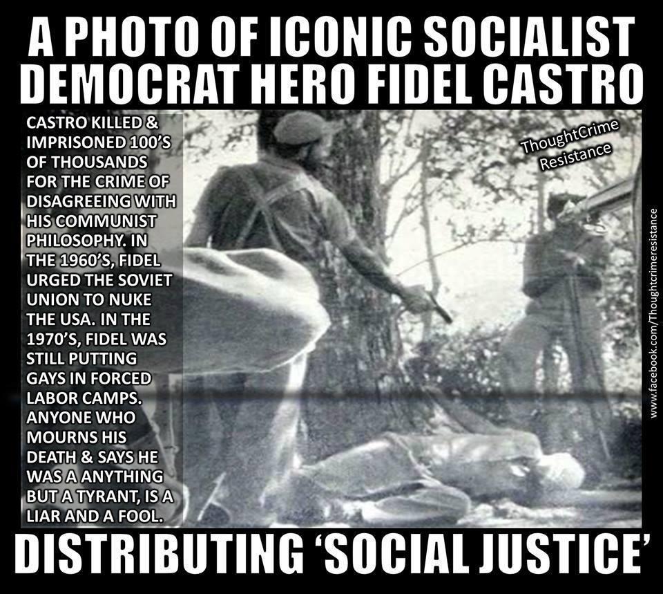 Fidel Castro šíří sociální spravedlnost.